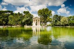 自然和庭院在罗马 库存照片