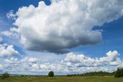 自然和美丽的天空的看法 库存图片