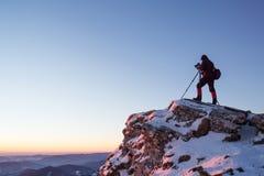 自然和风景摄影师 免版税库存图片