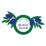 自然商标或标签用橄榄 库存图片