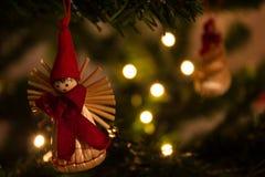 自然圣诞节的装饰 库存照片