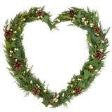 自然圣诞节花圈 免版税库存照片