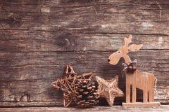 自然圣诞节装饰 免版税库存图片