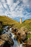 自然在乔治亚, Svaneti, Mestia, Adishi 免版税库存照片