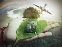 自然在手边 免版税库存图片
