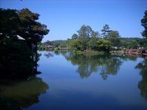 自然在湖 库存图片