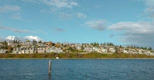自然在秋天期间在温哥华加拿大2016年10月 库存照片