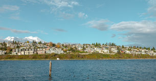 自然在秋天期间在温哥华加拿大2016年10月 图库摄影