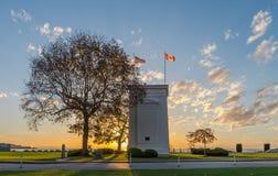 自然在秋天期间在温哥华加拿大2016年10月 免版税库存照片
