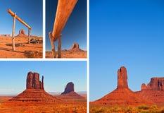 自然在纪念碑谷那瓦伙族人公园,犹他美国 库存照片