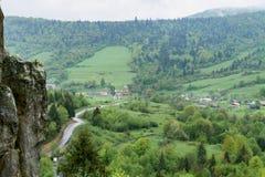 自然在Tustan 利沃夫州雷希奥 库存图片