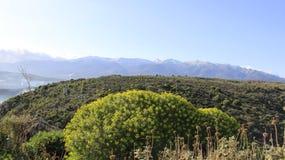 自然场面和Aptera古老历史的地方  免版税库存照片