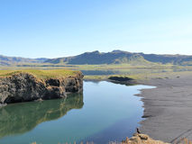 自然夏天风景在冰岛。 免版税图库摄影