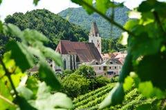 自然奥地利教会的框架 免版税库存图片