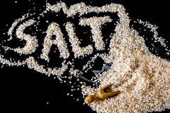 自然岩盐 免版税库存图片