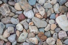 自然岩石小卵石backgorund 库存照片