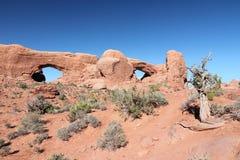 自然岩石曲拱 免版税库存图片