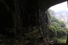 自然巨大的洞和峡谷 免版税库存图片