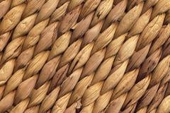 自然布朗酒椰席子概略的打褶的难看的东西背景纹理 库存图片
