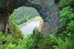 自然开口的山 免版税库存图片
