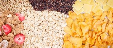 自然成份和产品当来源碳水化合物、维生素、矿物和纤维 库存图片