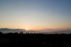自然日出风景 库存照片