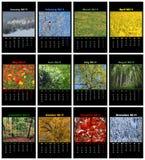 自然日历在2014年 免版税库存图片
