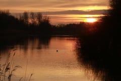自然日落在荷兰 库存图片