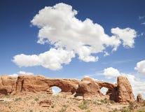 自然曲拱在拱门国家公园,美国 库存图片
