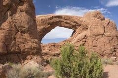 自然曲拱,犹他 图库摄影