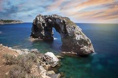 自然曲拱ES Pontas,马略卡,西班牙 免版税库存照片
