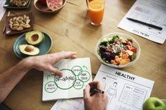 100%自然有机Nutrion健康吃生活 图库摄影