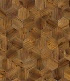 自然木背景蜂窝,难看的东西木条地板地板设计无缝的纹理 免版税库存图片