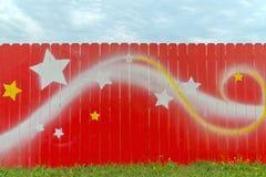 自然木被绘的红色 免版税库存图片