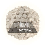 自然材料横幅 免版税库存图片