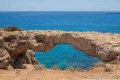 自然桥梁在塞浦路斯 图库摄影