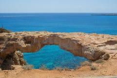 自然桥梁在塞浦路斯 库存照片