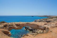 自然桥梁在塞浦路斯 库存图片