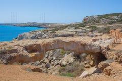 自然桥梁在塞浦路斯 免版税库存图片