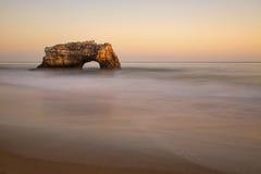 自然桥梁海滩,圣克鲁斯 免版税库存照片