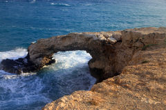 自然桥梁,塞浦路斯 免版税库存照片