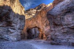 自然桥梁,死亡谷 库存图片