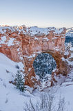 自然桥梁` s自然曲拱 图库摄影