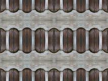 自然棕色和灰色葡萄酒木板条墙壁无缝的geometri 库存照片