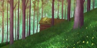 自然森林公园 小说背景 概念艺术 可实现轻快优雅的例证 皇族释放例证