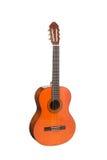 自然橙色木古典声学吉他 免版税图库摄影