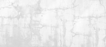 自然水泥或石老墙壁纹理白色背景  图库摄影