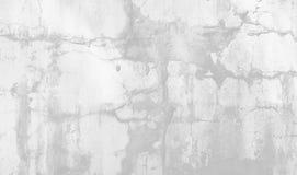 自然水泥或石老墙壁纹理白色背景  免版税库存图片