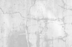 自然水泥或石老墙壁纹理白色背景  免版税库存照片