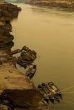 自然江边在泰国 库存照片